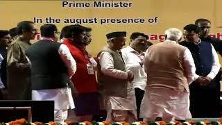 PM Shri Narendra Modi inaugurates various development projects in Mumbai.