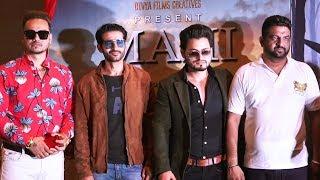 Vivan Bhatena And Hiten Tejwani At Poster Launch Of Films Mahi And Scissor