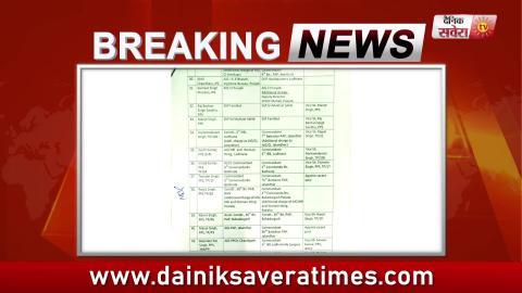Breaking: Punjab Police में DGP Rank से SP Rank तक के 132 Officers के हुए Transfers