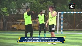 Bollywood celebs enjoy football match during rain in Mumbai