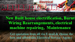 MAHBOOBNAGAR   Electrical Services  Home Service by Electricians   New Built House electrification  