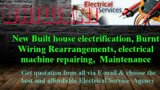 BHIWANI   Electrical Services  Home Service by Electricians   New Built House electrification  
