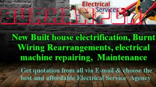 BURHANPUR   Electrical Services |Home Service by Electricians | New Built House electrification |