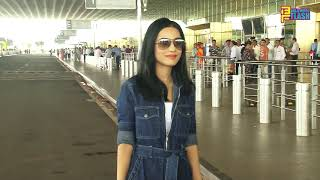 Amrita Rao Spotted At International Airport Traveling To Delhi For Pageant
