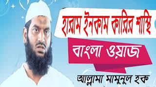 হারাম ইনকাম কারীর ভয়াবহ শাস্তি কি ? Allama Mamunul Hoque Best Bangla Waz | Islamic Bangla Waz 2019