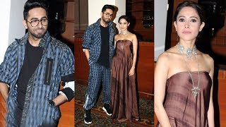 Dream Girl : Ayushmann Khurrana And Nushrat Bharucha Spotted Promoting Their film At JW MARRIOTT