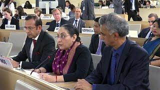Indian counters Pak at UNHRC says J&K internal matter, won't tolerate interference