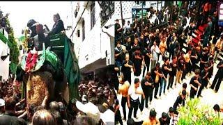 10th Muharram Juloos |  Bibi Ka Alam | Charminar juloos of Zanjeeri Maatam | @ SACH NEWS |
