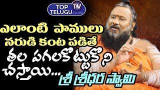 ఏ పాములు నరుడి కంట పడితే తల పగలకొట్టుకొని..| Sri Sridhar Swamy | Dharma Sandhehalu | Top Telugu TV