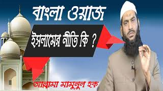 বাংলা ওয়াজ । ইসলামের নীতি কি ? Waz Mahfil Allama Mamunul Hoque | Best Bangla Waz 2019 | Islamic BD
