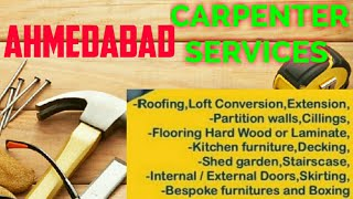 AHMEDABAD   Carpenter Services   Carpenter at your home  Furniture Work   near me  work Carpentery 1