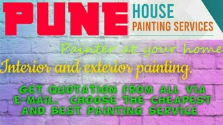 PUNE   HOUSE PAINTING SERVICES ~ Painter at your home ~near me ~ Tips ~INTERIOR & EXTERIOR 1280x720