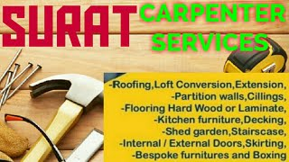SURAT   Carpenter Services  ~ Carpenter at your home ~ Furniture Work  ~near me ~work ~Carpentery 12