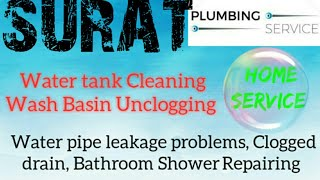 SURAT    Plumbing Services ~Plumber at your home~   Bathroom Shower Repairing ~near me ~in Building