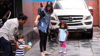Sunny Leone With Her Kids Spotted At Play School Juhu