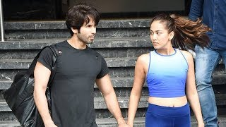 Shahid Kapoor Along With Wify Mira Kapoor Spotted Post Gum Session At I Think Fitness Juhu