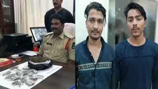2 Youngsters Arrested With Ganja By Falaknuma Police   Inspector Falaknuma Speaks   @ SACH NEWS  