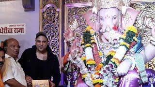 The Kapil Sharma Show Actor Krushna Abhishek Taking Blessings At Andheri Cha Raja