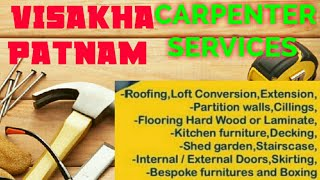 VISAKHAPATNAM     Carpenter Services  ~ Carpenter at your home ~ Furniture Work  ~near me ~work ~Car