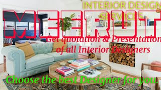MEERUT    INTERIOR DESIGN SERVICES ~ QUOTATION AND PRESENTATION~ Ideas ~ Living Room ~ Tips ~Bedroom