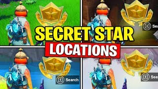 ALL SECRET BATTLE STARS Season 10 - Fortnite Week 1 to 7 Locations (SEASON X)
