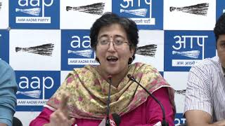 AAP Leaders Atishi and Saurabh Bhardawaj Briefs Media on Air Pollution In Delhi