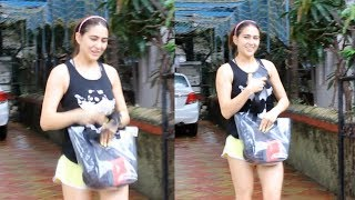 Gorgeous Sara Ali Khan Spotted At Satyam Dance Classes Juhu
