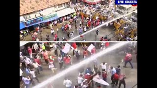 Watch: Clashes break out between police, Left activists in Bengal