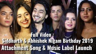 UNCUT: Mr.Faizu,Jannat,Anushka,Avneet,Reem,Aashika At Nigam Bros Birthday & Attachment Song Launch