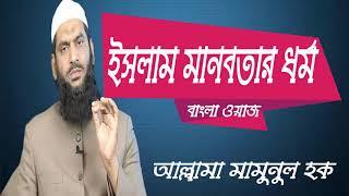 বাংলা ওয়াজ মাহফিল ২০১৯ । ইসলাম মানবতার ধর্ম । Bangla Waz Allama Mamunul Hoque | Islamic BD