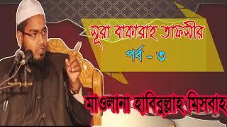 সূরা বাকারাহ তাফসীর পর্ব- ৩ । Mawlana Habibullah Misbah Waz Mahfil | Downlaod Bangla Waz 2019