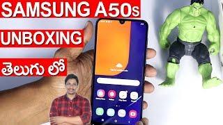 samsung a50s unboxing telugu tech tuts