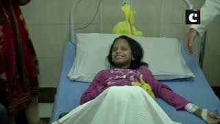 Seva Saptah campaign: Amit Shah JP Nadda gift fruits to children admitted in AIIMS