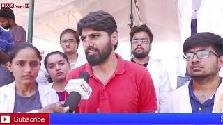 वर्ल्ड कॉलेज की छात्र छात्राओं से मिलने पहुंचे अरविंद शर्मा के छोटे भाई राज पारीक HAR NEWS 24