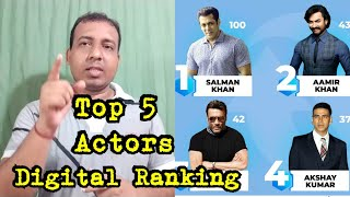 Top 5 Bollywood Actors In Digital News Ranking August 30- September 5, 2019