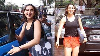 Beautiful Sara Ali Khan Spotted At Dance Rehearsal Hall Andheri Fun