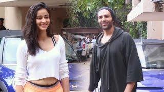 Kartik Aaryan and Ananya Pandey Spotted At Dance Rehearsal Hall Andheri