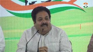AICC Press Briefing By Rajeev Shukla at Congress HQ