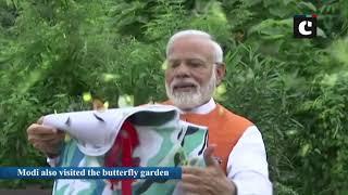 PM Modi enjoys picturesque view of Sardar Sarovar Dam