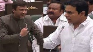 AKBARUDDIN Owaisi MIM Vs KTR TRS | Telanagana Assembly | Full Video | MIM Vs TRS - DT News