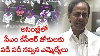 KCR Funny Comments   Telangana Assembly Budget Sessions 2019   Top Telugu TV