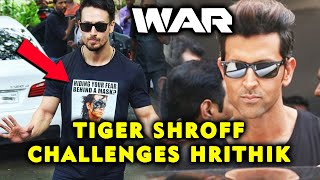 WAR BEGINS | Tiger Shroff's OPEN CHALLENGE To Hrithik Roshan With His T-Shirt Caption