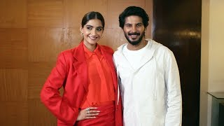 Sonam kapoor With Dulquer Salmaan Promoting Their Film The Zoya Factor - Watch Video
