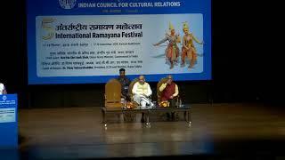 Shri Amit Shah addresses 5th International Ramayana Festival in New Delhi.