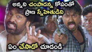 అన్నని చంపాడన్న కోపంతో ప్రాణ స్నేహితుడిని ఏం చేసాడో చూడండి || Latest Telugu Movie Scenes