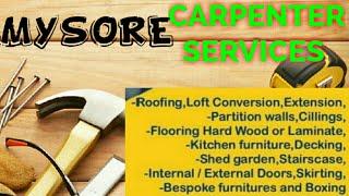 MYSORE    Carpenter Services ~ Carpenter at your home ~ Furniture Work ~near me ~work ~Carpentery