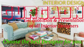 GURGAON    INTERIOR DESIGN SERVICES ~ QUOTATION AND PRESENTATION~ Ideas ~ Living Room ~ Tips ~Bedroo
