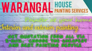 WARANGAL    HOUSE PAINTING SERVICES ~ Painter at your home ~near me ~ Tips ~INTERIOR & EXTERIOR 1280