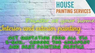 TIRUCHIRAPPALLI    HOUSE PAINTING SERVICES ~ Painter at your home ~near me ~ Tips ~INTERIOR & EXTERI