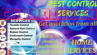 CHANDIGARH     Pest Control Services ~ Technician ~Service at your home ~ Bed Bugs ~ near me 1280x72